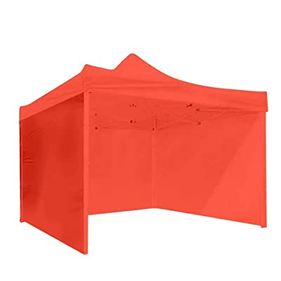 Wecnday-Home Garden Patio 3 Side Walls Tent Canopy Camping Travel Picnic Portable Gazebo Sunshade Cover Outdoor Waterproof Facility & Activities (Color : Red, Size : 3 x 3m) : Garden & Outdoor