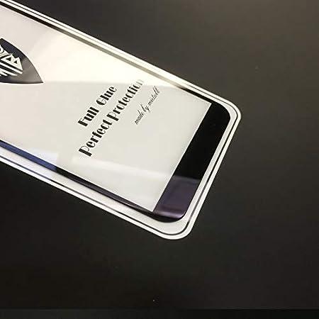 Black Color : Black GzPuluz Glass Protector Film 25 PCS Full Screen Full Glue Anti-Fingerprint Tempered Glass Film for Galaxy J4+