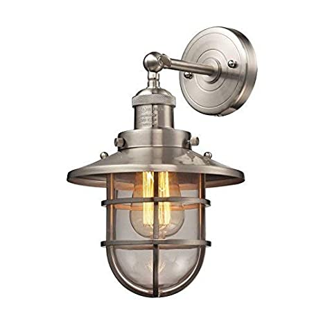 Amazon.com: Luz Lámpara de pared en níquel satinado: Home ...