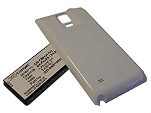 vhbw batería extendida blanca 6400mAh (3.85V) para teléfono móvil Smartphone Samsung Galaxy SM-N910A, SM-N910C, SM-N910FD, SM-N910FQ por EB-BN910BBE.