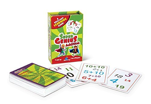 Super Genius - Kindergarten/First Grade Learning Game Set - Reading 1 & 2 and Addition