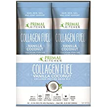 Primal Kitchen Collagen Fuel Protein On The Go Packets, Vanilla Coconut, 12 Count - Non-Dairy Coffee Creamer, Supports Healthy Hair, Skin, Nails and Joints, Promotes Muscle Repair