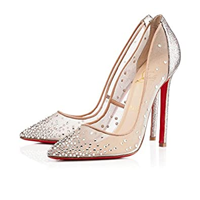 1a5968dd13f5 Christian Louboutin Crystal Embellished Body Strass 120mm Heels (38 ...