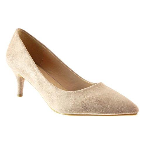Angkorly - damen Schuhe Pumpe - Stiletto - Dekollete Stiletto high heel 6 CM Rosa