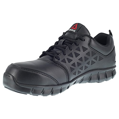 Reebok Work Mens Sublite Cushion Work Rb4040 Industriale E Costruzione Scarpa In Pelle Nera