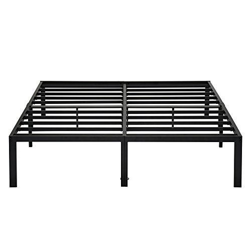 PrimaSleep PR14BF08K 14 Inch Tall Simple & Sturdy Steel Slat Metal Bed Frame/Non Slip/Ample Storage Space, King