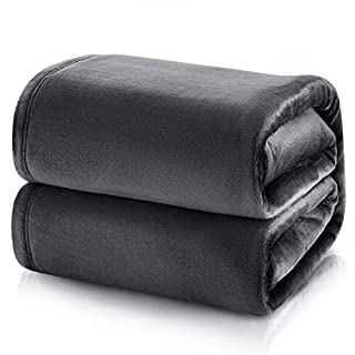 Bedsure Fleece Blanket King Size Dark Grey Lightweight Super Soft Cozy Luxury Bed Blanket Microfiber