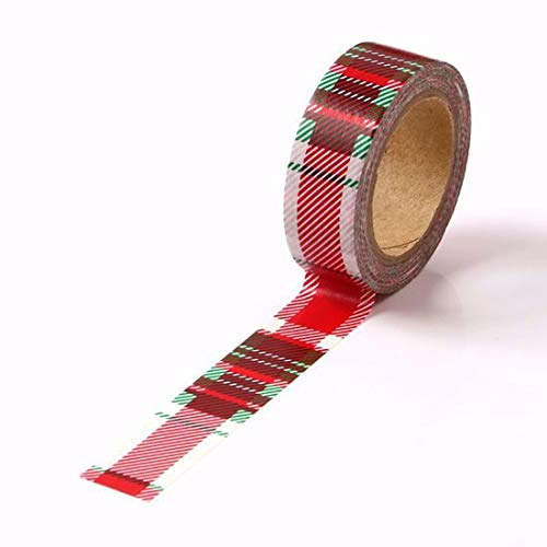 Red Checkered Foil Washi Tape for Planning • Scrapbooking • Arts Crafts • Office • Party Supplies • Gift Wrapping • Colorful Decorative • Masking Tapes • DIY from MERYKEEM