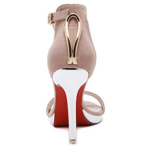Solides Bracelets Rose Bout Oasap Superbes Cheville Haut Femmes Ouvert À Stiletto De Talons qT7EaTxw8