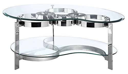 Stein World Furniture Mercury Cocktail Table, Silver Finish/Glass