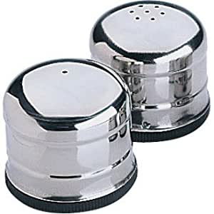 Jumbo Salt & Pepper Shaker Set Stainless Steel (60 x 70mm) by Generic