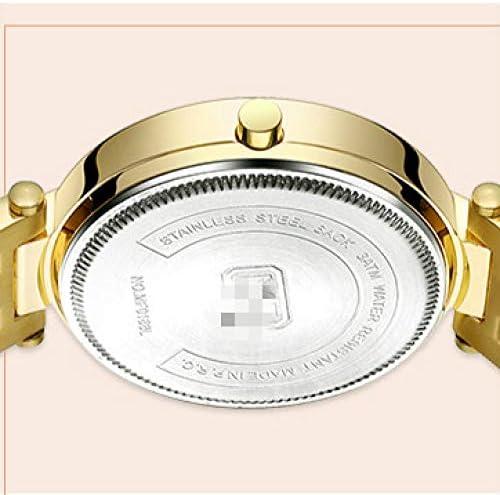 Montres À Quartz pour Femmes Montre pour Femme Montre-Bracelet pour Femme en Or Rose 20.5cm Or Rose