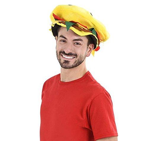 DollarItemDirect Velvet Hamburger Hat, Case of 12 -