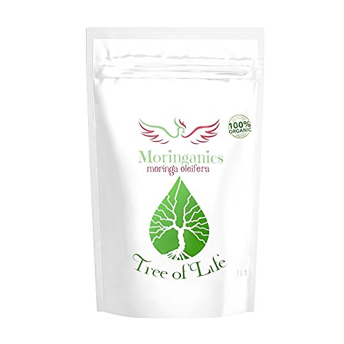 Moringa Leaf Powder, SUPERFOOD for Vitality, Weightloss, Nutrition And Digestion,Tree of Life, Certified USDA Organic Moringa Powder, Non-GMO, 100% Pure and Raw, 1lb Package by Moringanics
