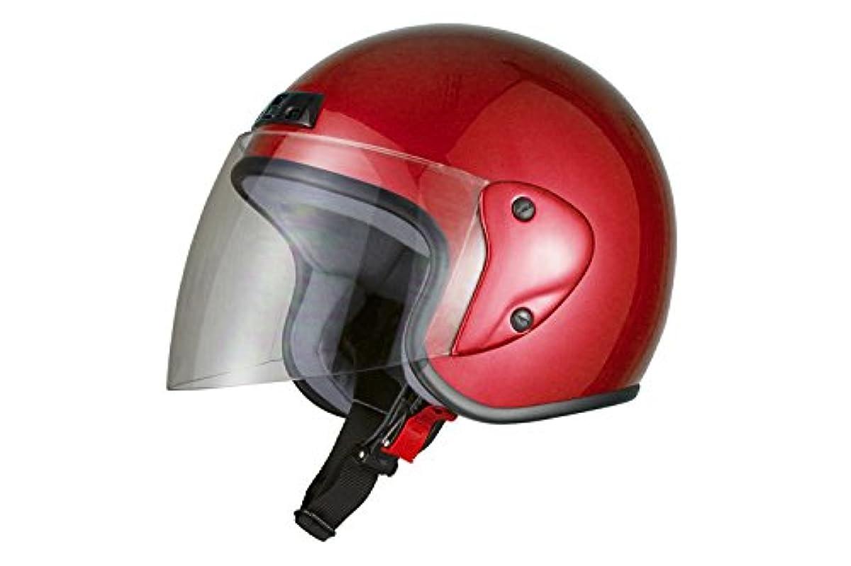 [해외] 오토VIPER트 센터 오토바이 헬멧 제트 레드 7204 FREE (머리위 57CM~60CM미만)