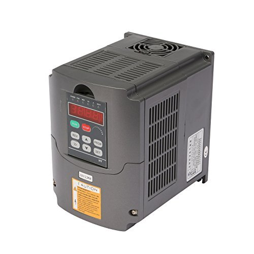 VEVOR VFD 4KW 220V 5HP 7A Variable Frequency Drive Inverter AVR Technique VFD Drive for Spindle Motor Speed Control (4KW)