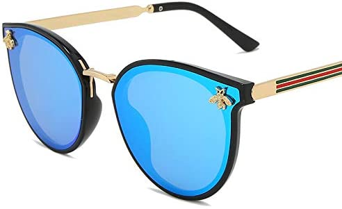 ZJIEJ Lunettes de Soleil Bee Fashion for Women Sunglasses Men SquareDesign Sun Glasses Retro Male Iron