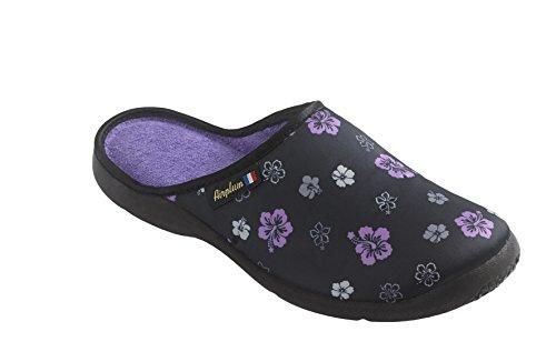 Fashion Manufacturer - Mule TOISON Femme fuschia ou violet - 36, Violet
