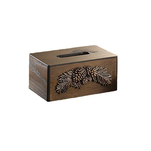 SPLY DTEM European American style home minimalist wooden creative living room desk table coffee table tissue box tray American country style