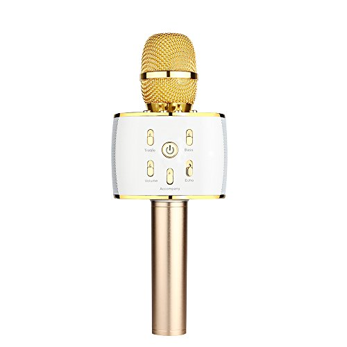 Best Review Of BONAOK Portable Wireless Karaoke Microphone, Built-in 10W Bluetooth Speaker, 3 in 1 H...