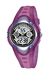 PASNEW 351 HighQuality Waterproof Analog-Digital Chronograph Sport Watch for boys and girls pink