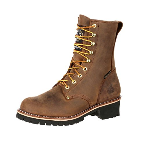 Georgia Boot Work Mens ST WP Logger Insulated 10.5 W Brown GB00065 (Insulated Georgia Boots)