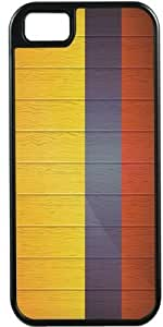Rikki KnightTM Colombia Flag on Distressed Wood Black Tough-It Case Cover for iPhone 4 & 4s (Double Layer case with Silicone Protection)