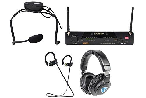 Samson Airline 77 Wireless Fitness Aerobics Headset UHF Microphone Mic+ - Wireless System Uhf 77 Headset