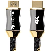 QualGear 6 Feet HDMI Premium Certified 2.0 cable with 24K Gold Plated Contacts, Supports 4K Ultra HD, 3D, 18Gbps, Audio Return Channel, Ethernet (QG-PCBL-HD20-6FT)