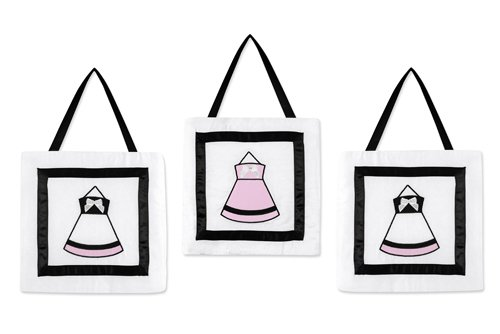 Pink, Black and White Princess Wall Hangings