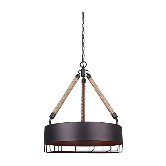 "Canarm ICH662A04ORB20 Portsmouth 4 Light 19 3/4 In Chain Chandelier with Metal Shade - Size: Type A, 19 3/4"" W x 24 1/2"" H Metal shade 4 x 100W A bulbs - kitchen-dining-room-decor, kitchen-dining-room, chandeliers-lighting - 41ylU0pZTHL. SS570  -"