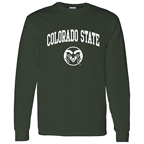 (AL03 - Colorado State Rams Arch Logo Long Sleeve - Small -)