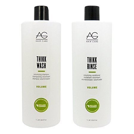 AG Hair Thikk Wash Volumizing Shampoo & Conditioner 33.8oz Duo