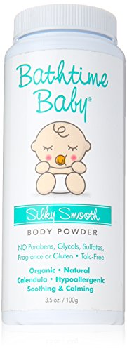 Bathtime Baby Silky Smooth Powder, 6 Ounce by Bathtime Baby
