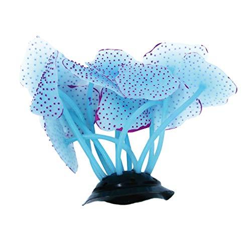 Beautiful Aquarium Coral Ornaments - Silicone Fish Tank Landscaping Coral Decoration Glow Simulation Coral Plant Ornaments