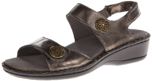 (Aravon Women's Candace Dress Sandal,Pewter,10 2A US)