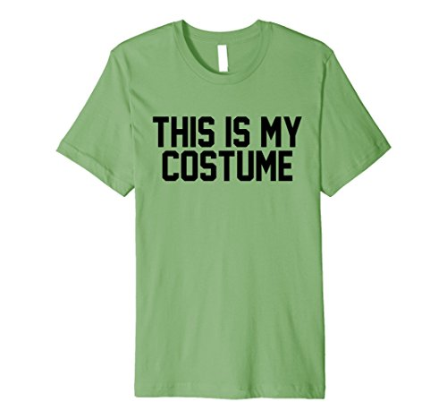 Skanky Mens Costumes (Mens This Is My Costume Halloween Fitted Shirt 3XL Grass)