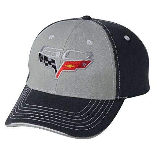 Men's Corvette C6 HAT/Cap 60TH Anniversary Gray Embroidered New GM Official