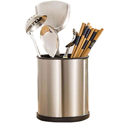 Stainless Steel Chopsticks Utensil Holder,Cylinder Shaped Rotating Chopsticks Holders