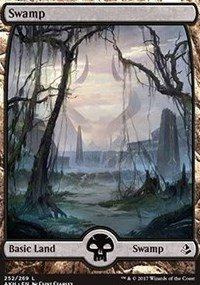 Swamp Foil (Swamp (Full Art) - Foil - Amonkhet)