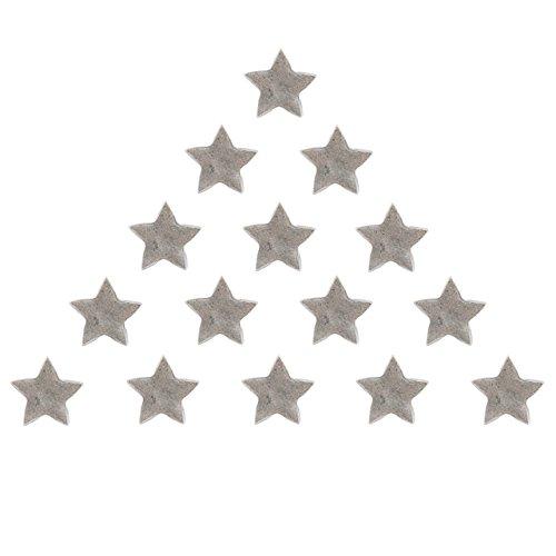 15 ANTIQUE SILVER STAR PUSH PINS ()