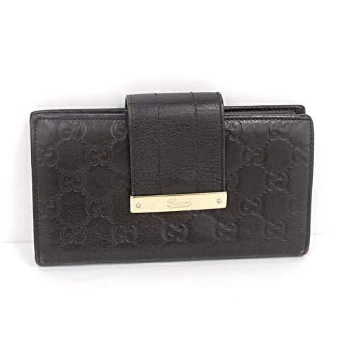 【中古】グッチ グッチシマ 二つ折り長財布 レザー 181668 ブラウン系   B07K8LDTP5