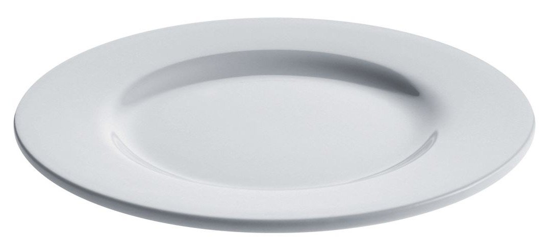 A di Alessi 8-Inch Platebowlcup Side Plate, White Porcelain, Set of 4 AJM28/5