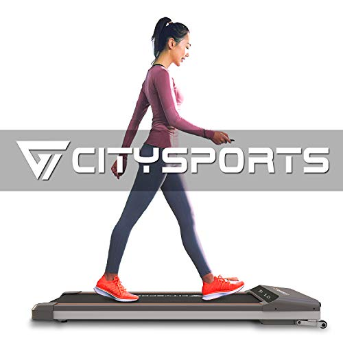 CITYSPORTS Folding Motorised Treadmill, 500W Motor, Adjustable Speed, LCD Screen, Folding walking treadmill for Home and…