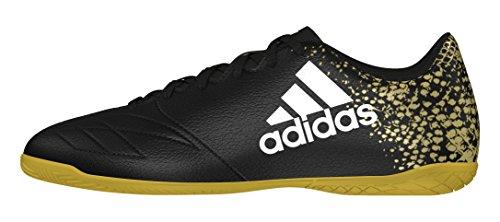 adidas Herren X 16.4 in Fußballschuhe Schwarz (Core Black/Ftwr White/Gold Metallic)