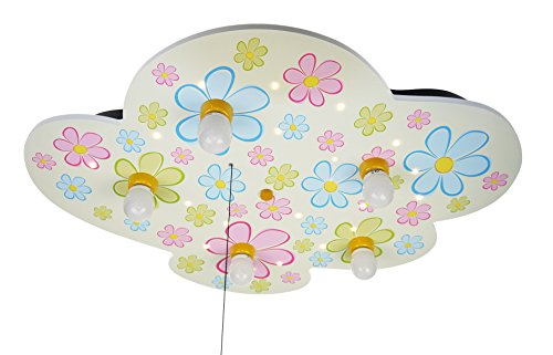 Niermann Standby Ceiling LED Lamp, Flowers, X-Large by Niermann Standby