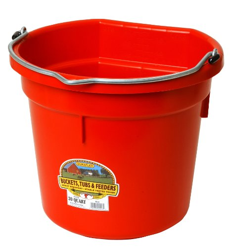 Image of Miller Manufacturing Co. P20FBRED 20 QT Flatback Bucket