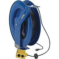 Coxreels EZ-Coil Safety Series Power Cord Reel with Quad Receptacle - 100 Ft., Model# EZ-PC24-0012-B