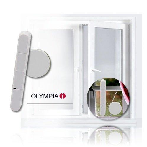Glasbruchmelder (1 Stück) für Olympia Protect 5080 Alarmanlage plug&play