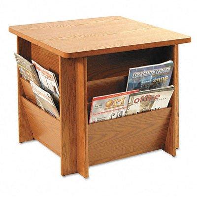 Table with Literature Racks (Medium Oak)